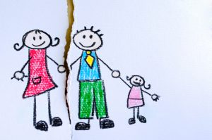 child's drawin of a broken family